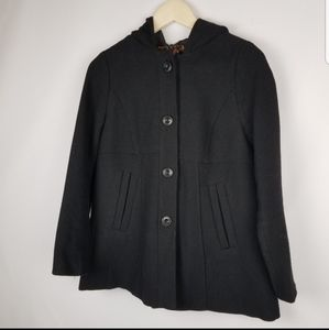 Gap brand size S black coat 39% wool peacoat style